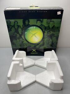 Original Microsoft XBOX Console Box + Foam Only --- No Console Or Accessories