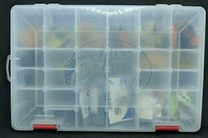 Bass Pro Fly Organizer With 48 Flies - Mostly Maribou Streamers