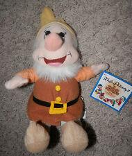 "Disney Plush Dwarf Happy Doll Snow White 10"" Toy Factory ( Seven Dwarfs) Rare"