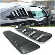 2 Carbon Fiber Rear Side Window Louvers Scoop Cover Vent For Ford Mustang 05-14