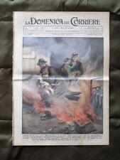 La Domenica del Corriere 20 Gennaio 1935 Eroi italiani Lupo Mussolini e Laval
