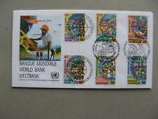 UNITED NATIONS NY VI GE, cover FDC 1989, World Bank, agriculture electricity