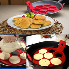 Non Stick Flippin' Nonstick Pancake Maker 7 Egg Rings Maker Mould Kitchen Tool