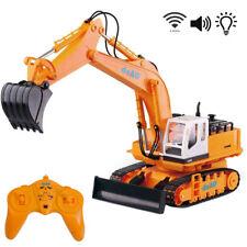 deAo Remote Control RC Radio Toy Excavator Bulldozer Digger Truck Construction