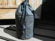 Waxed Canvas Auxillary Handlebar Bag 2in1 Use with dry bag or independently