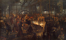 The Iron Rolling Mill, Modern Cyclopes Adolph Menzel Eisen Handwerk B A3 00222