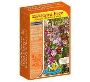 Wild Flower Seeds - Bee & Butterfly Mix - Great Colours - 200g Pack