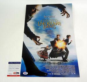 Daniel Handler Author Lemony Snicket Signed Autograph Movie Poster PSA/DNA COA C