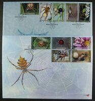 Südafrika South Africa 2004 Spinnen Spiders Insekten 1565-74 FDC Ersttagsbriefe