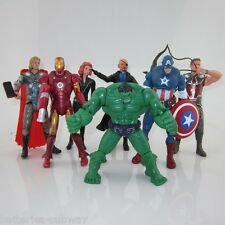 7 x Movie The Avengers Action Figures Hulk Iron Man Thor Captain America Hawkeye