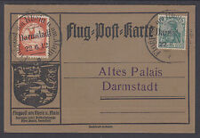 Germany Mi II, 70 on 1912 Flug Post Carte, special Flugpost am Rhein cancels