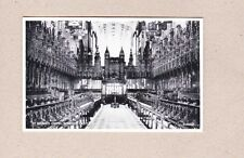 Postcard St Georges Chapel Windsor Interior Silveresque Valentine & Sons 211333