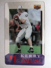 $ Telefonkarte Phonecard USA Football KERRY COLLINS National Football League NFL