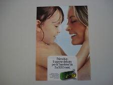 advertising Pubblicità 1971 SAPONE PALMOLIVE