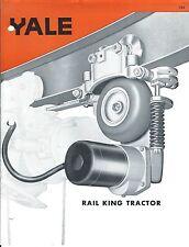 MRO Brochure - Yale Rail King Tractor Motor Driven Hoist Trolley c1965 (MR120)