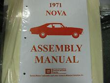 1971 CHEVY II, NOVA (ALL MODELS) ASSEMBLY MANUAL