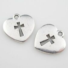 40 Tibetan Silver Heart Charms Craft DIY 16.5x1.5mm 14317