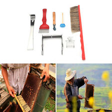 7PCS Bee Brush Uncapping Fork Queen Catcher Hive Tool Beekeeping Equipment TBUS