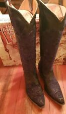 """OLD GRINGO NICOLETTE 15"""" BLACK COWGIRL BOOTS Size 8m"""