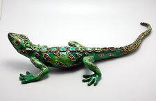 NIB! Jay Strongwater Sawyer Salamander Figurine With Green Stones. Stunning!