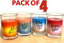 4 x 7.5CM SCENTED CANDLES IN GLASS POT FRAGRANCE HOME CANDLE GIFT SET MOOD