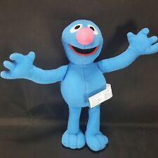 "Fisher Price Sesame Street Grover Soft Plush 8"" Muppet Stuffed Animal Blue"