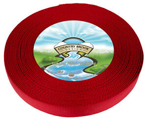 Country Brook Design® 1 Inch Red Tubular Nylon Webbing, 10 Yards