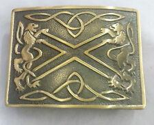 New Highland Saltire Belt Buckle Lion Rampant Antique/Saltire Kilt Belt Buckle