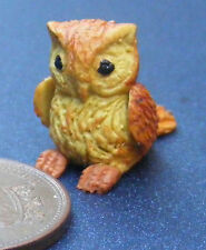 1:12 Scale Polymer Clay Parent /& Baby Brown Owl Tumdee Dolls House Garden OP