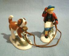 New ListingVintage Dept 56~Alpine~Climb Every Mountain Girl With St Bernard Dog~Replacement