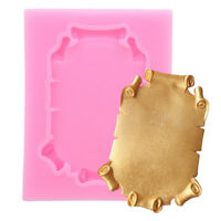 Silicone Mold Different Vintage Mirror Frame Cake Fondant Mould Decorating QK