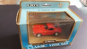 "ERTL - "" 61 FERRARI SWB  DIECAST - RED-  CLASSIC CAR  1/43  SCALE # 2853- BOXED"