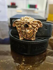 Unisex Gold Medusa Belt Versace