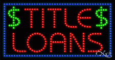 """NEW """"TITLE LOANS"""" 32x17x1 SOLID/ANIMATED LED SIGN w/CUSTOM OPTIONS 21306"""