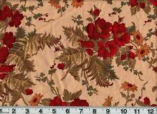Vintage Faye Burgos Fabric Floral Flowers OOP New Old Stock