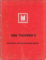 [SCHEMATICS_4UK]  2000 Isuzu Trooper SUV Electrical Wiring Diagram Manual S XS LS 2.6L 2.8L  V6 | eBay | 1988 Isuzu Trooper Wiring Diagram |  | eBay