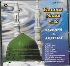NAZRANA-E-AQEEDAT (FAMOUS NAATS) VOL. 2 - NEW NAAT CD - FREE UK POST