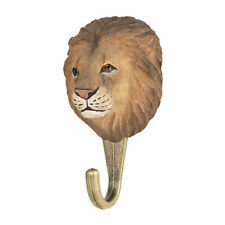 Wildlife Garden  Hook   Hand Carved  Lion