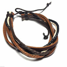 Leather Adjustable Costume Bracelets without Metal