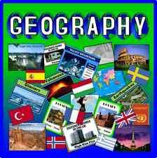 Geografia CD risorse di insegnamento Classe mondiale di visualizzazione del key stage 1-4 Display
