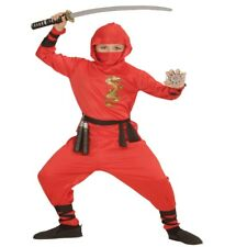 RED DRAGON NINJA Kinder Kostüm Gr. 150 für 11-13 J. Samurai Kämpfer #1338