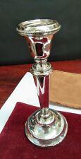 Sterling Silver Vintage Hallmarked Single Candlestick