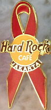Hard Rock Cafe JAKARTA 1990s World AIDS Day AWARENESS Red Ribbon PIN - HRC #3744