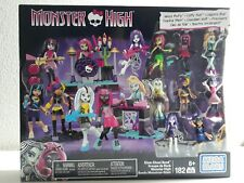 Monster High Mega Bloks Glam Ghoul Band 8 Figure Set 182 Pieces. New in Box