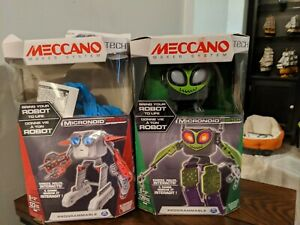 Meccano Tech Micronoid Switch Programmable Robot NEW Open Box + Socket Used Read