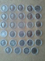 UK 50p PROOF DECIMAL FIFTY PENCE COINS IN CAPSULE CHOICE OF DATES FROM 1982-2016