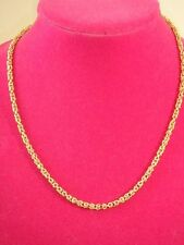 14K YELLOW GOLD 18 INCH DIMENSIONAL BYZANTINE CHAIN NECKLACE NEW 6.5 GRAMS