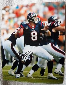 Houston Texans Quarterback Matt Schaub Signed 8x10 Photo Auto