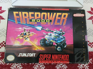 Firepower 2000 - Super Nintendo - SNES - Authentic - Box Only!