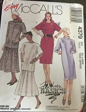 McCall's Misses' Dresses & Cowl Pattern #4379 Size 22,24 Uncut for Stretch knits